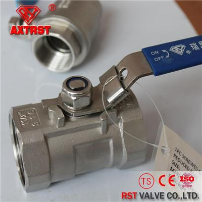 1PC Stainless Steel Floating Reduce Port 1000WOG Thread Ball Valve