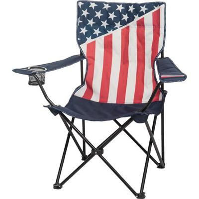 Favoroutdoor Foldable Arm Chair With USA Flag