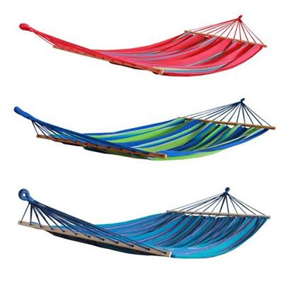 Favoroutdoor Supplier For Brazilian Style Cotton Fabric Hammock With Spreader Bars