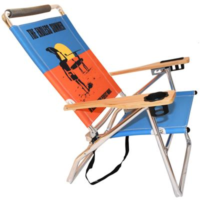 Favoroutdoor High Seat Aluminum Beach Chair with wood arms