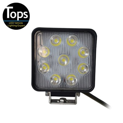 27W Led Round Work Lamp For Off-road Vehicle ATV SUV Agriculture Machine Marine
