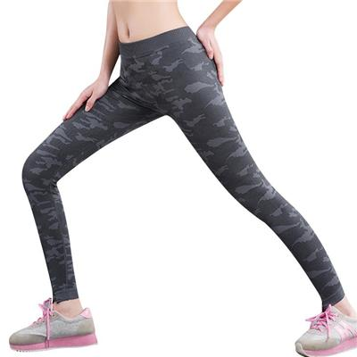 Summer Adventure Time New Seamless Leggings Fitness Stretch Fast Dry Pants Mid Waist Elastic Graphite Camouflage Leggings
