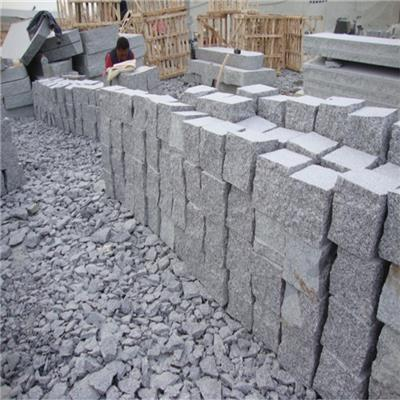 China Cheap Grey G341 Granite Cobble Stone Flamed Granite Cobblestone Price
