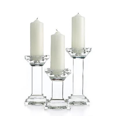 Crystal Pillar Candle Holders