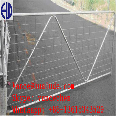 N Brace Gate livestock fencing galvanized rural steel farm gate for sale