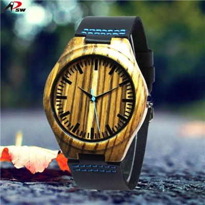 M.Y. 100% Zebrano Wood Grain Watches For Men And Women