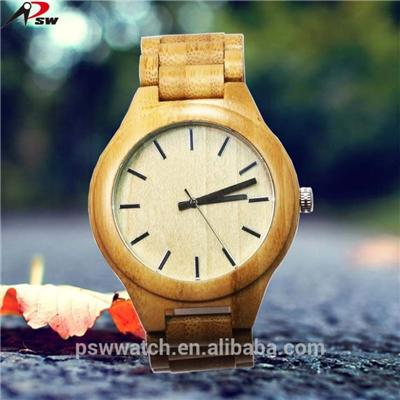 Water Resistant Pure Wooden Case Watch