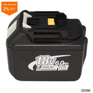 18V 6000mAh 6A High Capacity Li-ion Power Tool Battery for Makita BL1830 1830 BL1835 BL1815