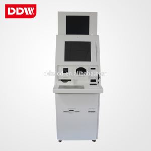 Multi function self service Bank Kiosk dual dot IR touch card dispenser optional Card reader optional Recepit printer optional coin