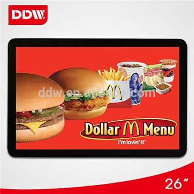 LED backlight high brightness 26 Inch Digital Signage Displays wall mounted kiosk