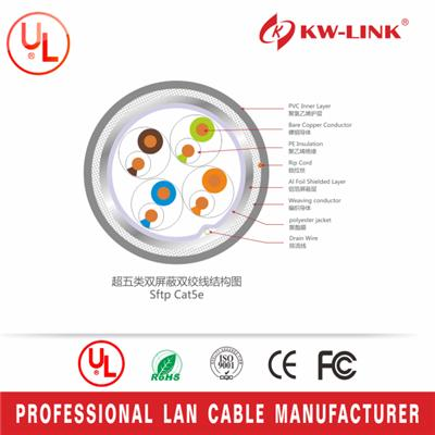 Factory Price OEM Brand Cat5e PVC Stranded S/FTP Bulk Networking Cable