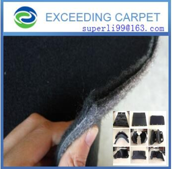 recyclable polyester felt for thermoforming part