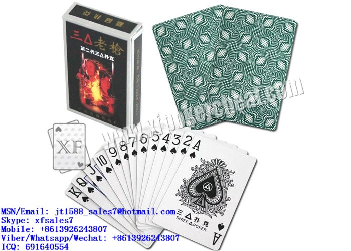 XF 3A Paper Playing Cards With Bar-Codes Markings For Poker Scanners And Poker Predictors And Invisible Lenses