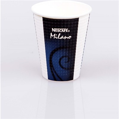 Embossed double wall paper cups