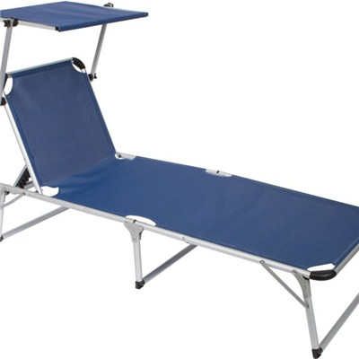 Favoroutdoor Adjustable Beach And Patio Lounge Chair With Sun Shade