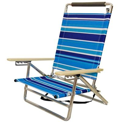 Favoroutdoor 5 Position Shoulder Strap Beach Chair With Higher Back And Wider Frame And Hardwood Armrests (2)