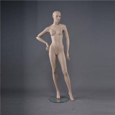 FRP Skin Color Realistic Female Vision Display Mannequin