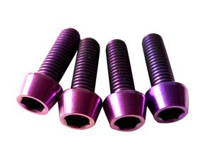 Purple Anodized Titanium Bolt