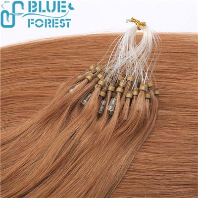 Blue Forest Hair Wholesale Cheap 100% Remy Brazilian Virgin Human Micro Ring Hair Loop Hair Extension