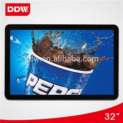 32 Inch wall mount Digital Signage Displays 3G wifi network flexible lcd display