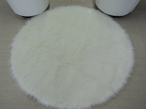Faux Fur Rug Round