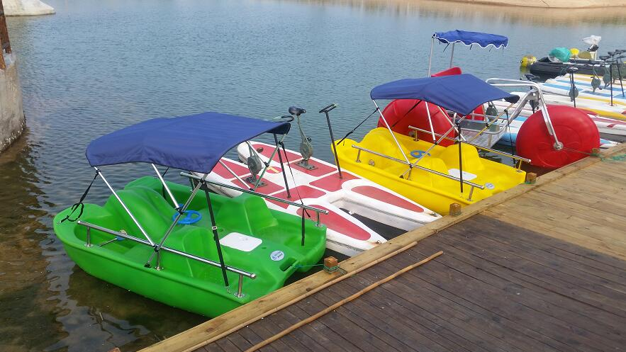 Small MOQ Adults Water Park Equipment Pedal Boat