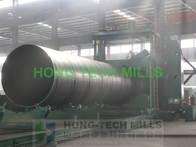 large diameter spiral welded pipe making machine production line