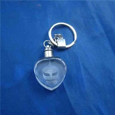 Glass Heart Keyring