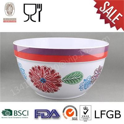 Print Melamine Customized Salad Bowl