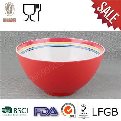 Two Tone Melamine Salad Bowl,melamine Noodle Bowl