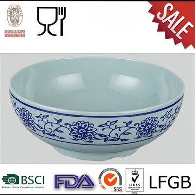Cheap Price Melamine Soup Bowl,Melamine Noodle Bowl,Melamine Classical Blue And White Bowl