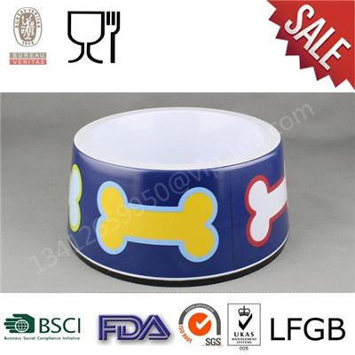 High Quality New Design Cute Pattern Melamine Round Pet Bowl,Cat Bowl