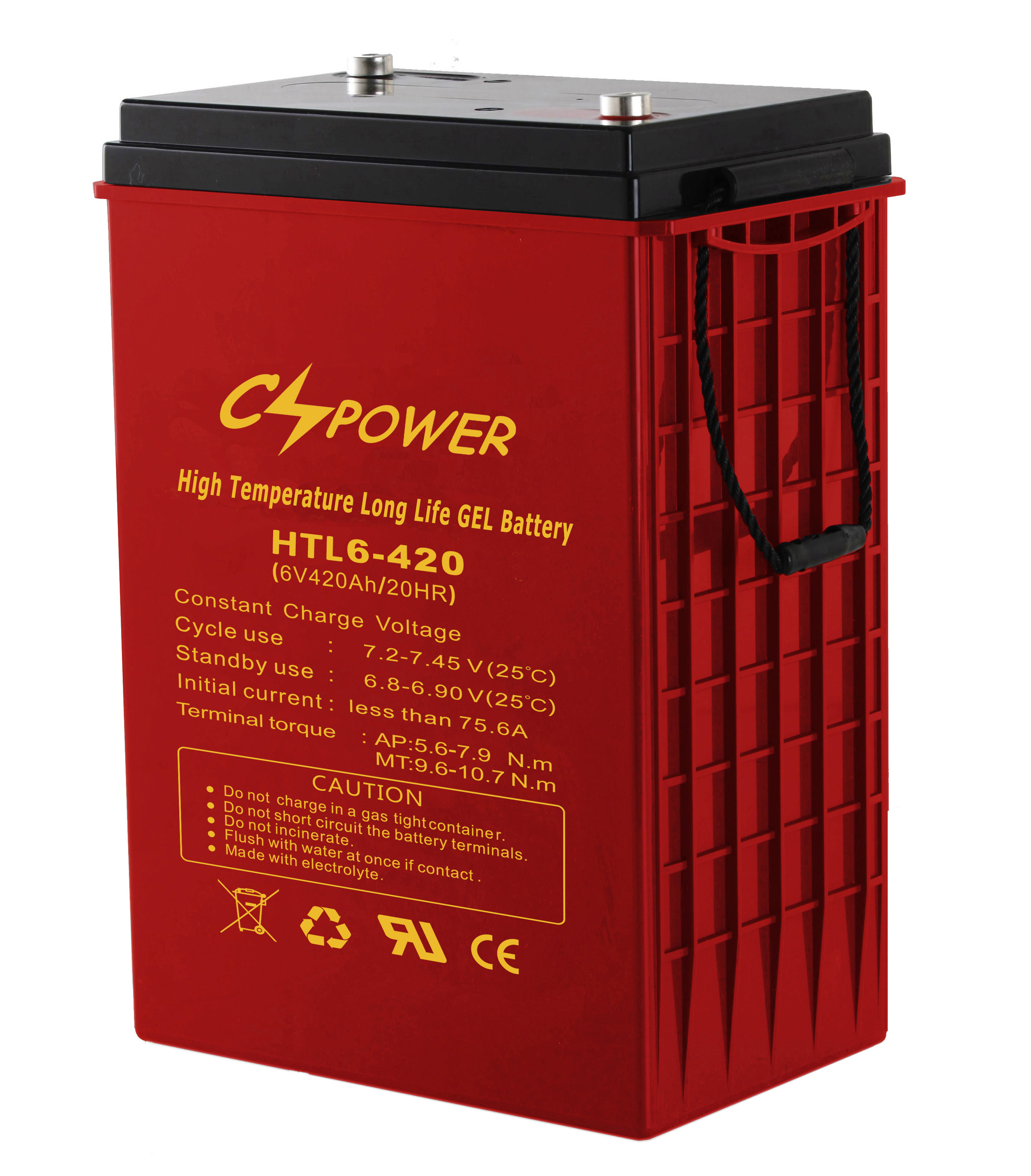 Cspower Anti High Temperature Long Life Gel Battery 6V 420ah