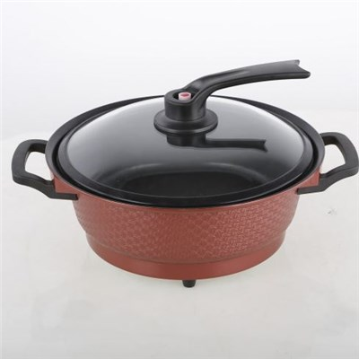 Round Electric Saute Pan Electric Skillet Multi Saute Cooker With Chafing Dish Function