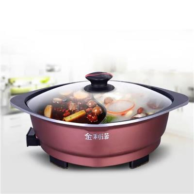 Round Electric Chafing Dish Pan With Glass Lid