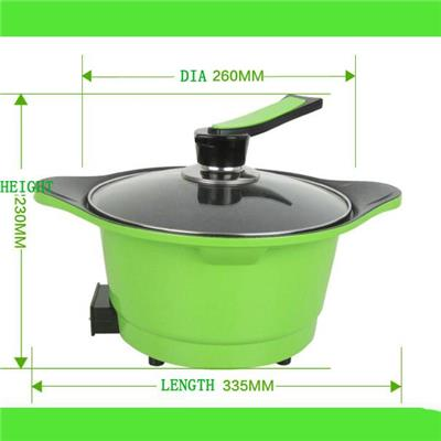 Korean Round Special Colorful Electric Skillet And Hot Pot And Electric Frying Pan