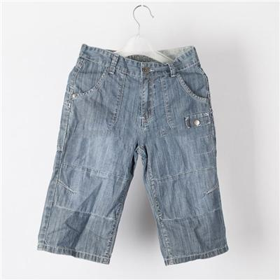 Boys' Soft And Comfortable Polyester Denim Embroidered Shorts