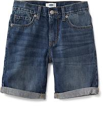 Soft Warm Boys'soft And Comfortable Cotton Denim Printed Shorts