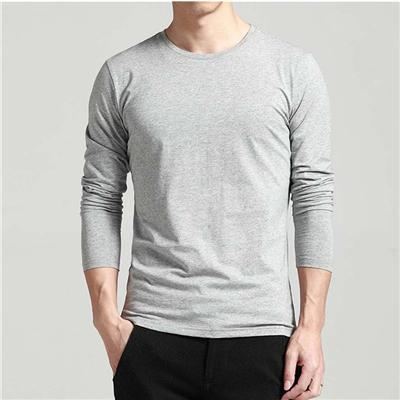 Comforatble Soft Men's Polyester Long-sleeved Printed Round-neck Shirts With Button