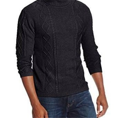 Men's Soft And Comfortable Crew Neck Wool Blend Embroidered Pullovers