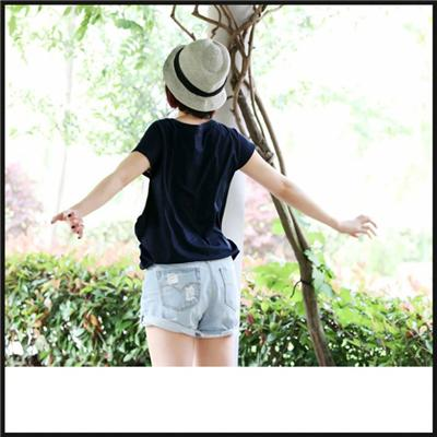 Warm Comfortable Women's Casual Embroidered Cotton Shorts With Beautiful Pattern