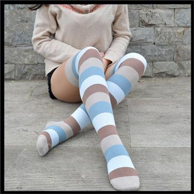 Warm Soft Women's Cotton Casual Printed Knee-high Socks