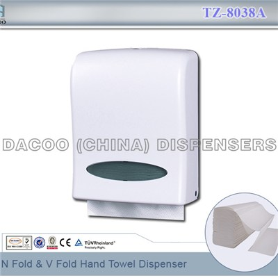 TZ-8038A N Fold & V Fold Hand Towel Dispenser