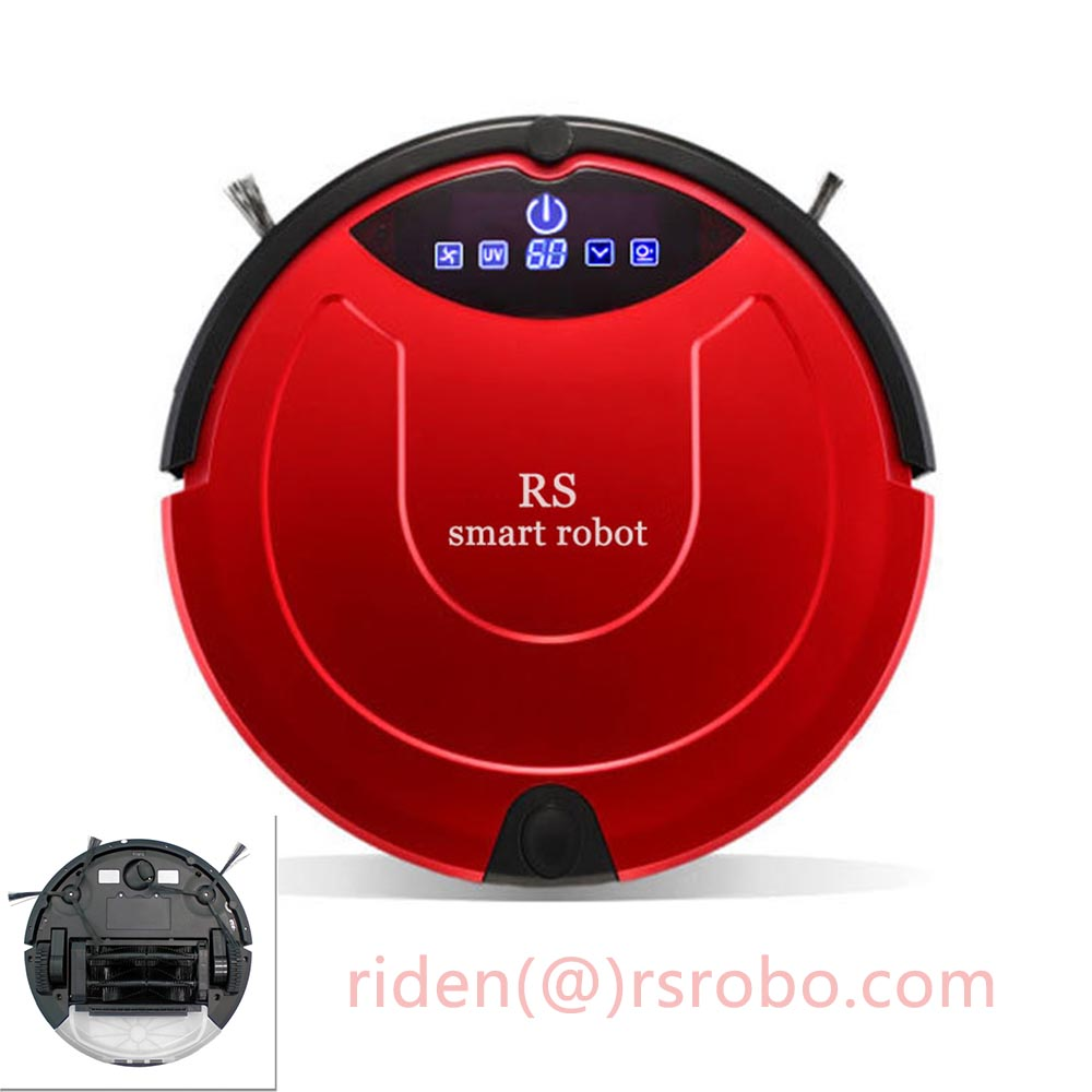 mop Vacuum Cleaner Robot for home cordless sweep machine with long side brush,long battery life,anti-collision smart sweeper
