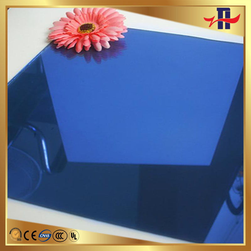 professional blue heat reflective heat resistance insulating glass