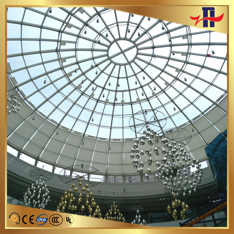 art curved laminated insulating glass dormant window glass roof