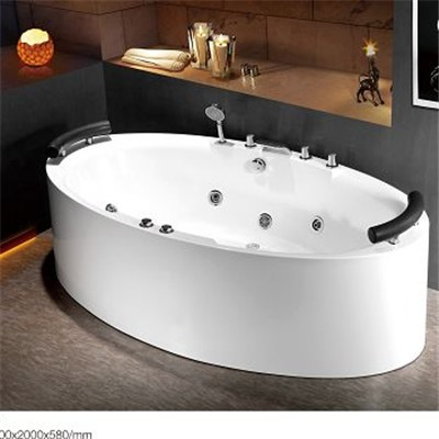 Free Standing Oval Whirlpool Tub C3162