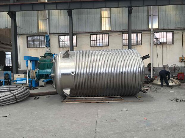 stainless steel chemical reactor kettle steam heating reactor limpet coil type reactor