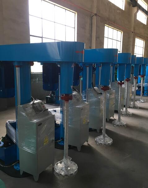 high speed paint dispersing mixer for liquid and powder