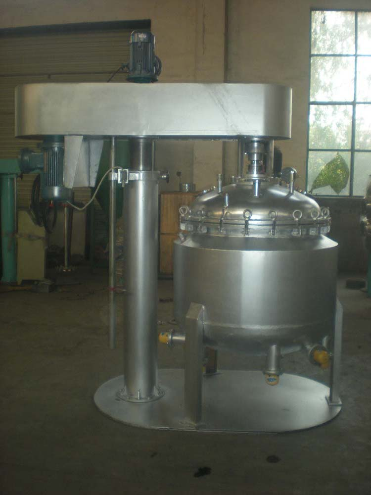 Stainless steel lifting vacuum dispersing tank machine